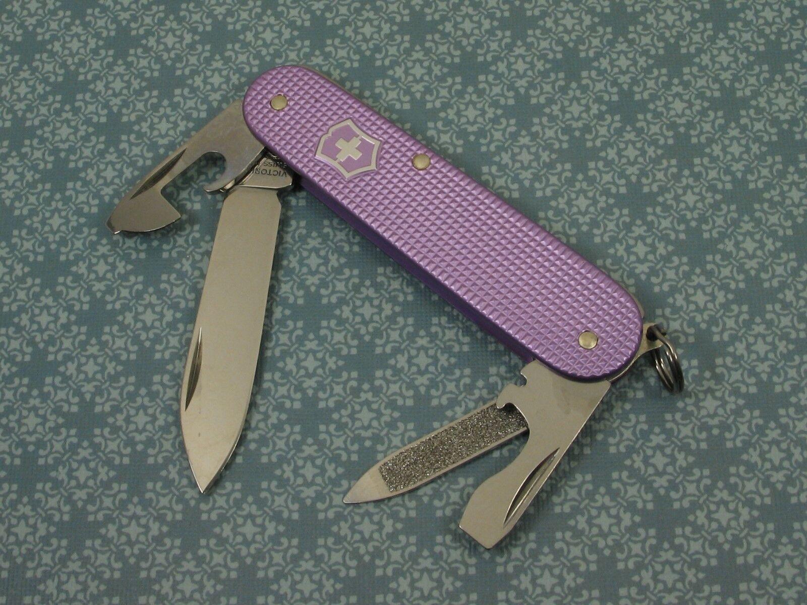 Swiss Bianco Exclusive Victorinox Cadet Lavender Alox Swiss Army Knife