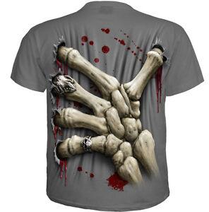 Hoodie Biker//Tattoo//Skeletons//Gothic//Ribcage//Skull Spiral Direct DEATH GRIP