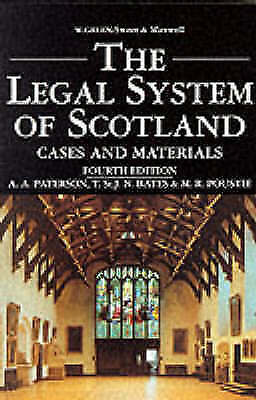 """VERY GOOD"" Paterson, A.A., Poustie, Mark, Bates, T.St.J.N., The Legal System of"