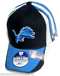 01d08e14 Details about Detroit Lions NFL Reebok Sideline YOUTH Hat Cap Multi Color  Flex Fit Fitted 4-7