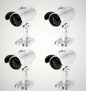 Mitaki-Japan-SET-of-4-Dummy-Fake-Bullet-Security-Camera-With-Blinking-Red-Light