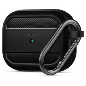 Apple Airpods Pro Case Spigen Rugged Armor Matte Black Shockproof Cover Ebay