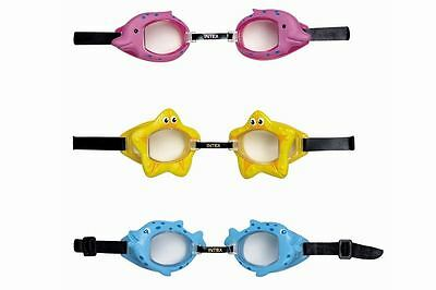 INTEX FUN SEA CREATURE CHILDRENS KIDS SWIMMING GOGGLES BEACH HOLIDAY