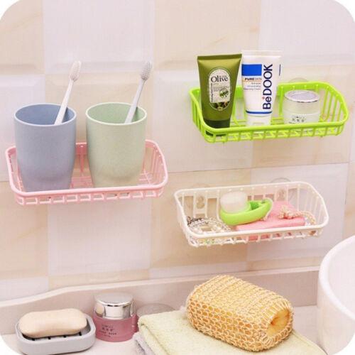 Sink Shelf Soap Sponge Suction Cup Drain Rack Bathroom Holder Kitchen Storage