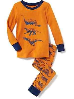 NWT Old Navy Dinosaur Sleep Set Pajama Brontosaurus Velociraptor T-Rex 3T 4T 5T