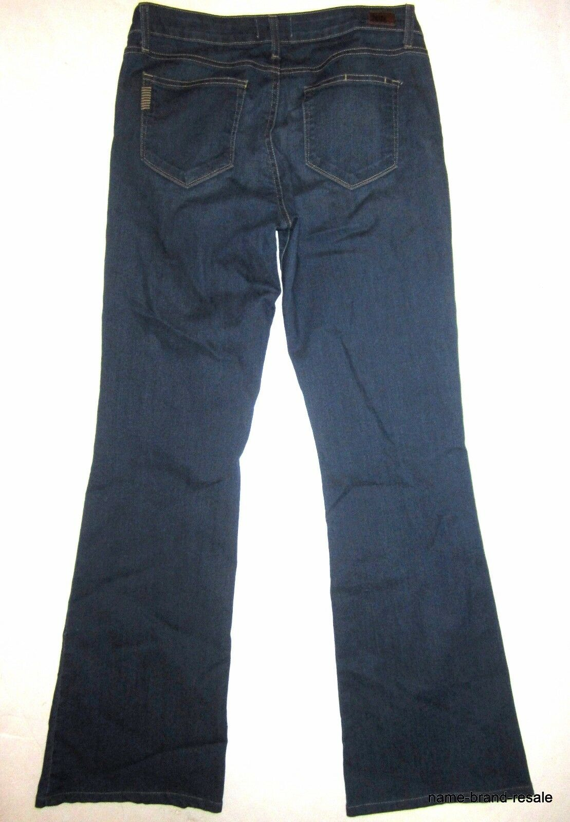 PAIGE Premium Denim JEANS damen 31 x 33 SKYLINE Stiefel Leg Dark Wash Stiefelcut EUC