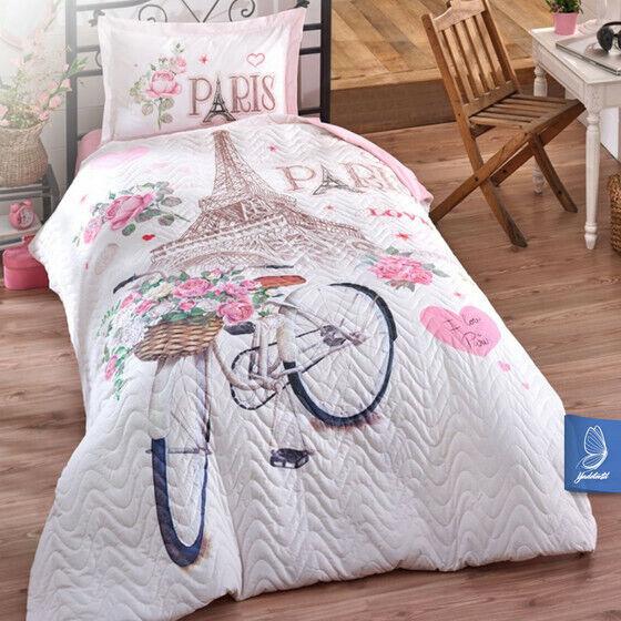 Tagesdecke 180 X 240.Tagesdecke Bettuberwurf 180x240 Cm Paris Love Gunstig Kaufen Ebay