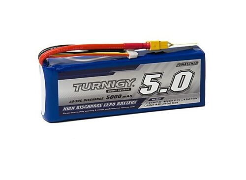 RC Turnigy 5000mAh 3S 20C Lipo Pack w//XT-60