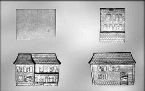 3D Haunted House Double Wide Chocolate Candy Mold for CK 3401