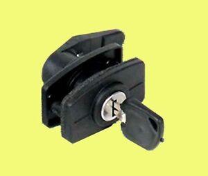 Black Door Lock Assembly 2 Keys West Alloy Caravan
