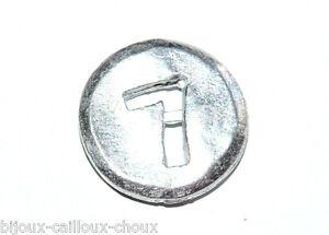 """1 Bouton Original Du Créateur Biche De Bere Métal """" Chiffre 7 """" 12mm Button Performance Fiable"""