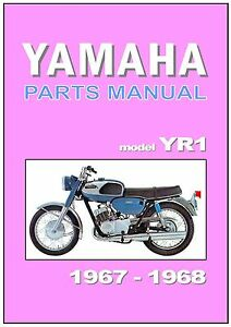 Details about YAMAHA Parts Manual YR1 R1 1967 & 1968 Replacement Spares  Catalog Catalogue List