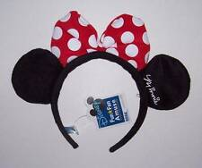 NWT Disney Minnie Mouse Headband with ears & red bow Costume Halloween dress up