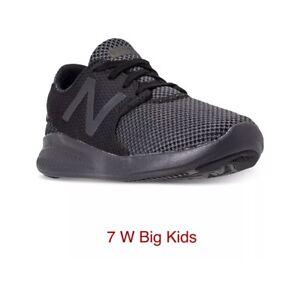 New Balance Kid/'s 455V2 Big Kids Male Shoes Black With White
