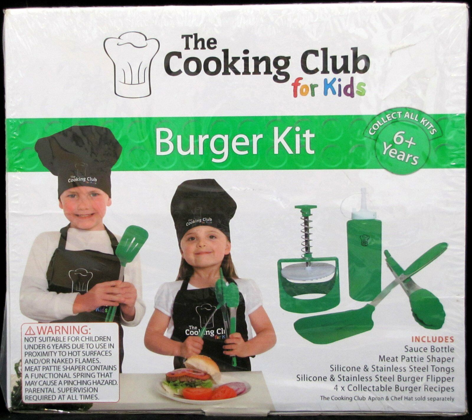 The Cooking Club for ungar -- Burger Kit -- for Ages 6 Brand New