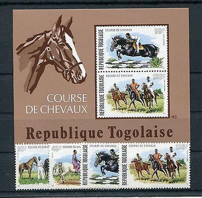 Gastfreundlich Togo 1057/60 Block 88 Postfrisch / Pferde - Pferdesport ...................1/804