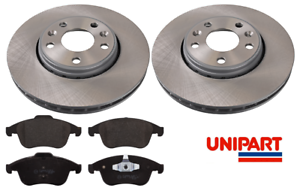 For-Renault-Grand-Scenic-MK3-2009-2016-Front-296mm-Brake-Discs-amp-Pads-Unipart