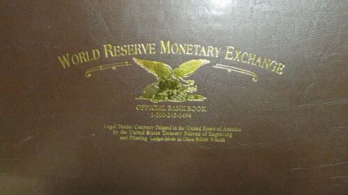 World Reserve Monetary Exchange Binder PAPER CURRENCY HOLDER BOOK  NEW in BOX