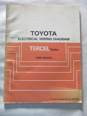 1988 TOYOTA TERCEL SEDAN ELECTRICAL WIRING DIAGRAM MANUAL ...
