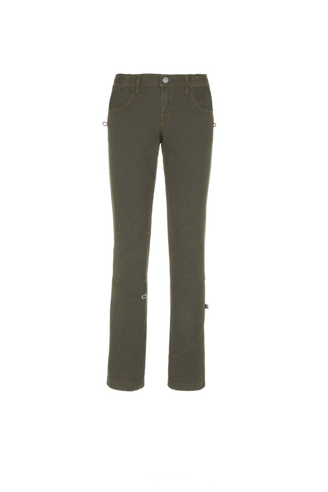 E9 Mago Estrecho Corte Pantalones para Escalar Boulderhose Mujer gris Cálido