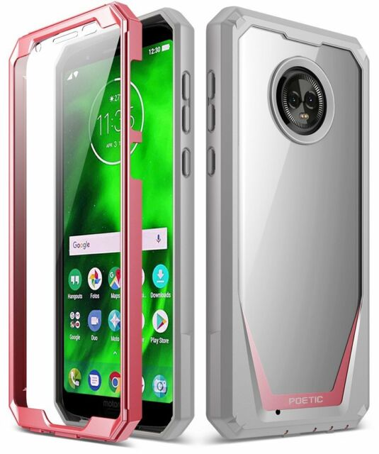 detailed look 6ff77 abb71 Moto G6 Case Poetic Guardian Scratch Resistant Back 360 Degree Protection