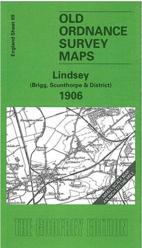 OLD ORDNANCE SURVEY MAP LINDSEY BRIGG SCUNTHORPE 1906 BROUGHTON CAISTOR WRAWBY