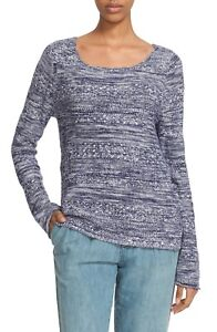 NWT-Joie-039-Feria-039-Space-Dye-Scoop-Neck-Sweater-Size-Large-Blue