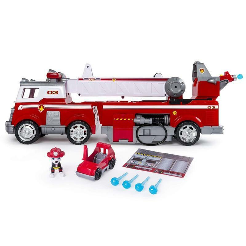 Paw Patrol Marshal Rescue Fire Truck Toy With Extendable Ladder For Age 3 And Up