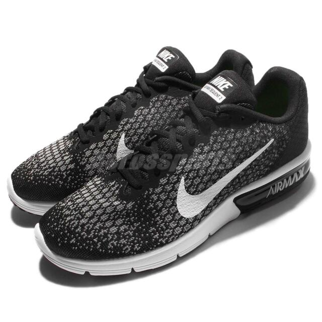 a0a248a579 Nike Air Max Sequent 2 II Black White Men Running Shoes Sneakers 852461-005