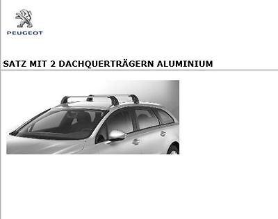Aluminium EBA für Peugeot 2008 NEU kpl Thule WingBar EVO inkl Dachträger