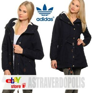 Details about Adidas Originals BLACK WINTER C PARKA Coat Jacket Womens Rita Ora UK 8 S M30514