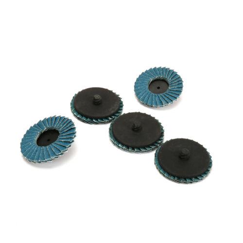 50mm 2 Inch R Roloc Flap Sanding Disc Twist Lock Grinding Wheel 80 Grit 10Pcs
