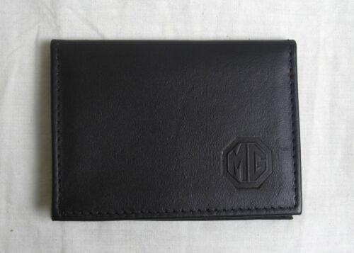MG logo in pelle nera taglia carta di credito patente di guida titolare vs933