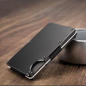ce68ddc349ec4 Metal Wallet Credit Card Holder Wallet Men s Purse Slim Money Clip ...