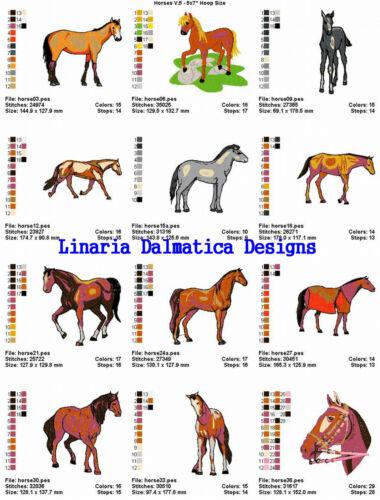 HORSES VOL.5 5X7 LD MACHINE EMBROIDERY DESIGNS