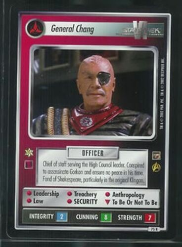 Star Trek Motion Pictures General Chang 75R NM//M