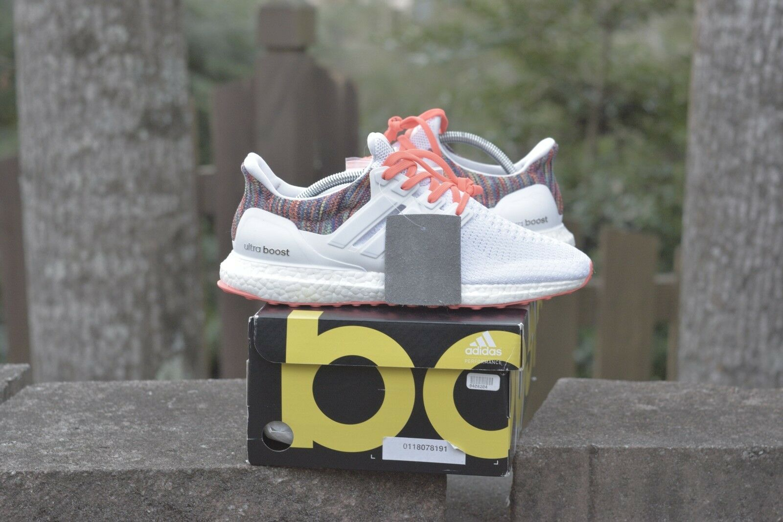 5707a58f5a2ab NEW Adidas miAdidas Ultraboost 2.0 Size 9 Rainbow White nosidv8446-Athletic  Shoes