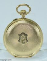 Damen Taschenuhr pocketwatch in aus 14 Kt. 585 Gold um 1900