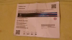 Used Sammler Ticket Bayern München vs Roter Stern Belgrad UEFA CL 2019//20