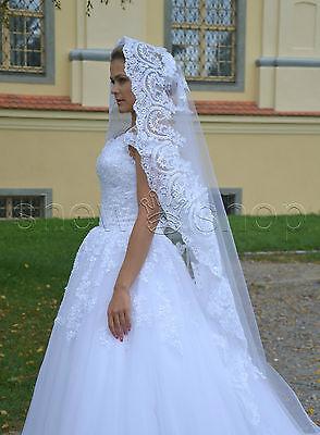 Creativo Velo 280cm Da Sposa 1 Posizione Cappella Pizzo Senza Pettine E Cerimonia Lungo Prodotti Di Qualità In Base Alla Qualità