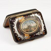 Antique French Souvenir Coin Purse, 1878 Paris Exposition, Chateau'Eau, Palais