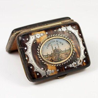 1878 Paris Exposition Chateau'eau Palais Fashionable And Attractive Packages Good Antique French Souvenir Coin Purse