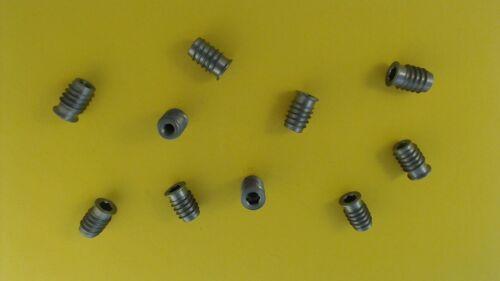10X M6 12x18 mm Einschraubmuttern mit Innensechskant Bund Stahl Verbundmuffen