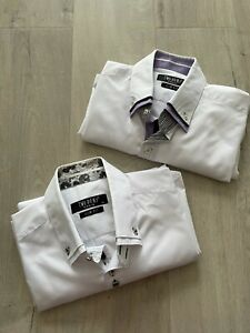 Lot de 2 chemises homme TWO BOXS blanches