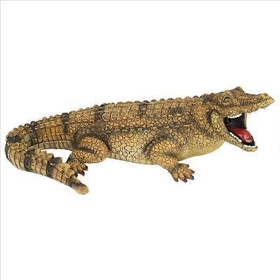 Spitting Alligator Crocodile Sculpture Home Garden Pond Spitter Piped Statue
