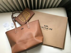 NWT COACH X Keith Haring Wendetasche City Tote Bag In Khaki