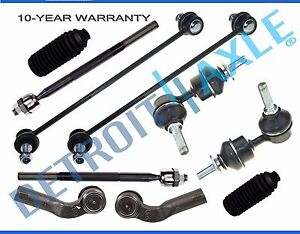 Mazda-3-Non-Turbo-New-10pc-Front-and-Rear-Suspension-Tie-Rod-amp-Sway-Bar-Kit