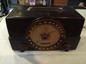 vtg zenith armstrong am fm tube bakelite table radio 7g01 ebay. Black Bedroom Furniture Sets. Home Design Ideas