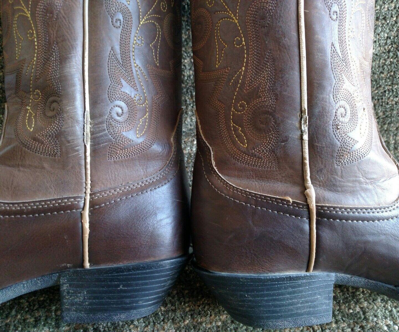 Justin Braun Leder square tip cowboy Stiefel 8.5 JBL1116 Größe 8.5 Stiefel B 4b560e