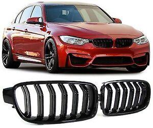 F30-M3-Style-MSport-Gloss-Black-Kidney-Grill-Grills-BMW-320d-320i-328i-335i-N20